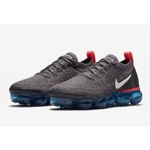 NEW Nike Air VaporMax 2 Flyknit Thunder Grey 6.5